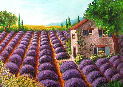 Lavander Painting - Lavender Field by Luciana Toma