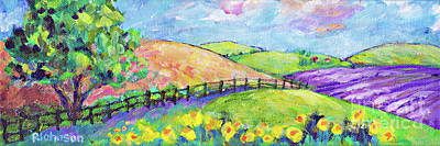 Painting - Lavender Fields By Peggy Johnson by Peggy Johnson