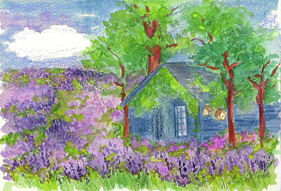Painting - Lavender Fields by Cathie Richardson
