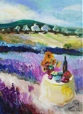 Painting - Lavender Fields by Elaine Cory