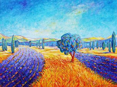 Painting - Lavender Fields In Provence by Cristina Stefan