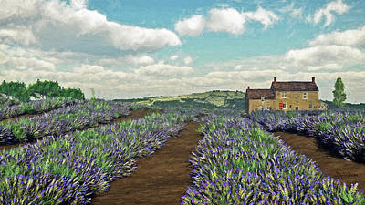 Digital Art - Lavender Fields by Jayne Wilson