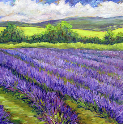 Painting - Lavender Fields by Nancy Day