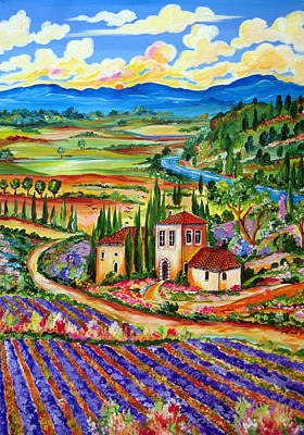 Painting - Lavender Fields by Roberto Gagliardi