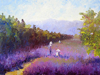 Lavender Fields Art Print by Terry  Chacon