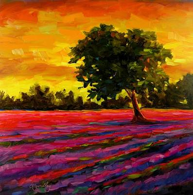 Painting - Lavender Fire by Chris Brandley