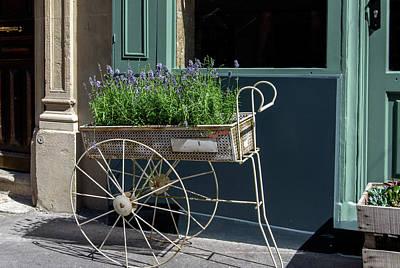 Digital Art - Lavender Flower Cart In Montmarte Paris by Carol Ailles