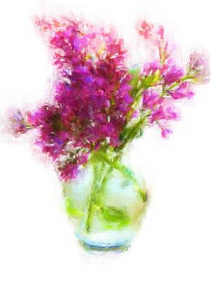 Painting - Lavender Flowers by Jai Johnson