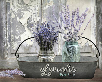Photograph - Lavender For Sale 2 by Lori Deiter