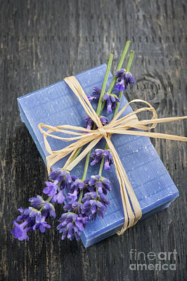 Photograph - Lavender Handmade Soap by Elena Elisseeva