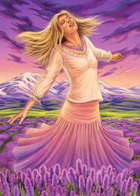 Mixed Media - Lavender - Heal Through Joy by Anne Wertheim