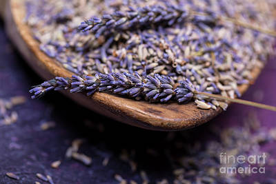 Photograph - Lavender In A Wooden Scoop by Jane Rix