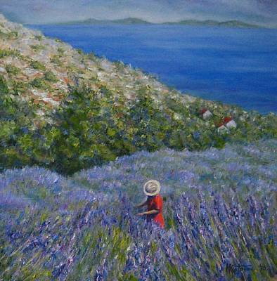 Painting - Lavender In Full  Bloom by Mirjana Gotovac