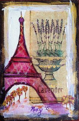 Cities Painting - Lavender In Paris by Roxy Rich
