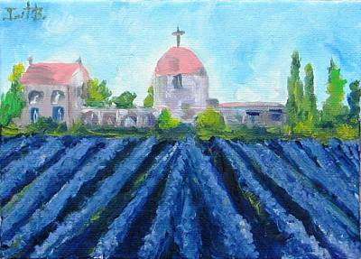 Lavender In Provence Art Print by Irit Bourla
