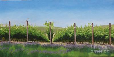Lavender In The Vineyard Original by Julie Peterson