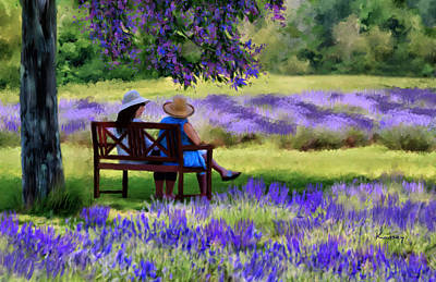 Painting - Lavender by Johanne Dauphinais