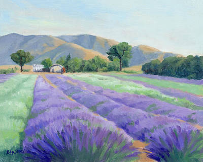 Painting - Lavender Lines by Sandy Fisher