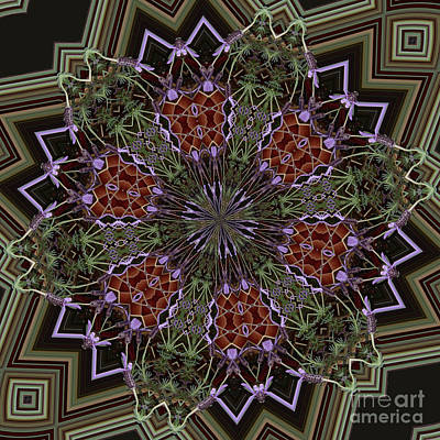 Digital Art - Lavender Mandala 1 by Julia Underwood