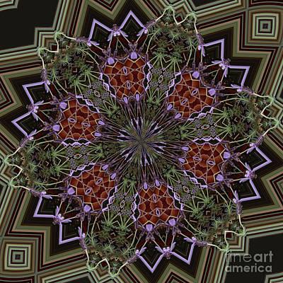 Digital Art - Lavender Mandala 1 by Julia Underwood