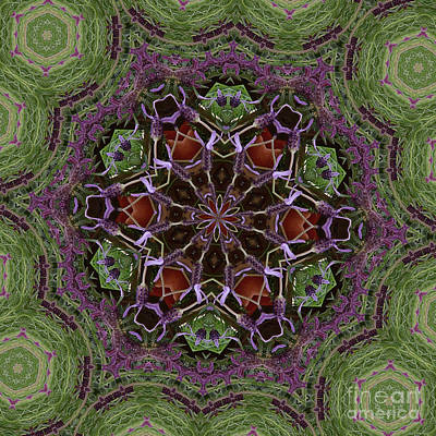 Digital Art - Lavender Mandala 2 by Julia Underwood