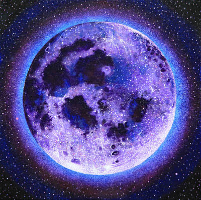 Gallery Sati Painting - Lavender Moon by Shelley Irish