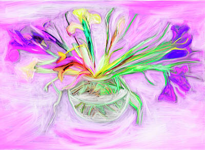 Designers Choice Digital Art - Lavender Orchids Painting by Don  Wright