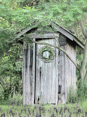 Photograph - Lavender Outhouse by Lori Deiter