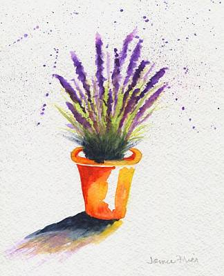 Painting - Lavender Pot by Jamie Frier