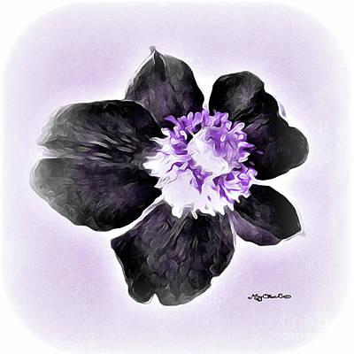 Scifi Portrait Collection - Lavender Purple Flower Power by Art by MyChicC