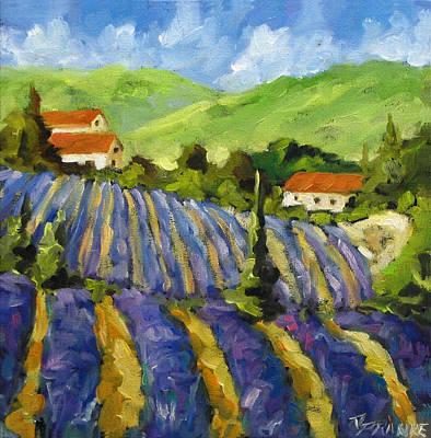 Finding Fine Art Painting - Lavender Scene by Richard T Pranke