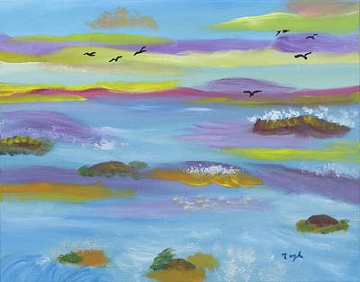 Painting - Lavender Sea Dream by Meryl Goudey