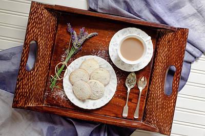 Lavender Shortbread Afternoon Tea Art Print