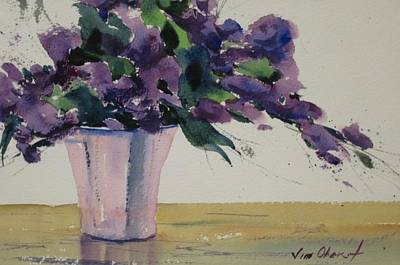 Oberst Painting - Lavender Spray by Jim Oberst