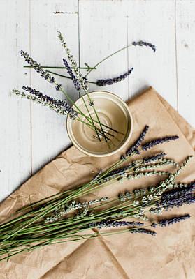 Photograph - Lavender Still Life 1 by Rebecca Cozart