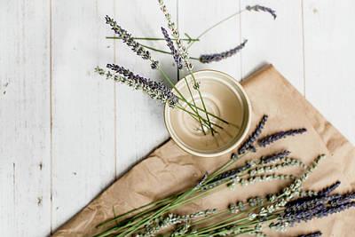 Photograph - Lavender Still Life 2 by Rebecca Cozart