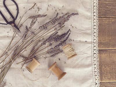 Photograph - Lavender Still Life by Kim Hojnacki