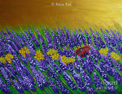 Painting - Lavender Summer by Felicia Tica