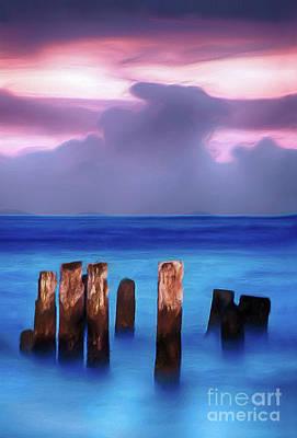 Digital Art - Lavender Sunrise On The Outer Banks Ap by Dan Carmichael