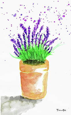 Watercolor Painting - Lavender by Tiima Studio