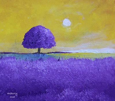 Painting - Lavender Tree by Alicia Maury