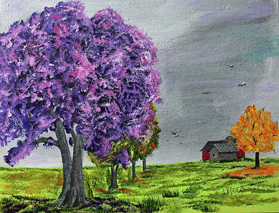 Painting - Lavender Tree by Jack G Brauer