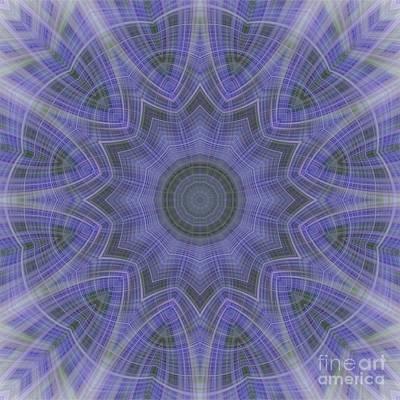 Photograph - Lavender Twirl Kaleido by Elaine Teague