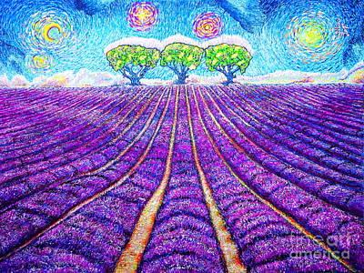 Painting - Lavender by Viktor Lazarev