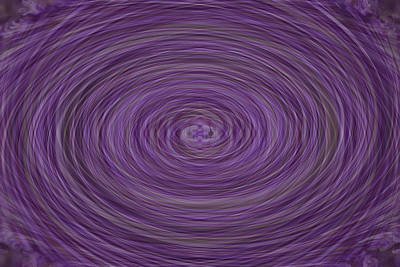Manipulation Photograph - Lavender Vortex by Teresa Mucha