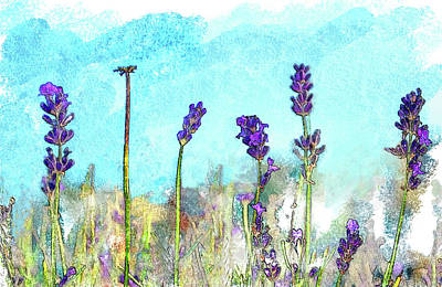 Lavender Digital Art - Lavender Watercolor by K26Photopix