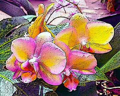 Digital Art - Lavender / Yellow  by Don Wright