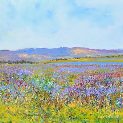lavenderfields in the Provence Art Print by Wim Wege van de