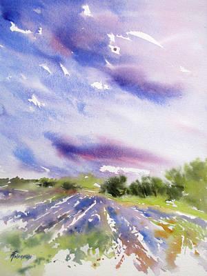 Painting - Lavender Field Splendor 1 by Rae Andrews