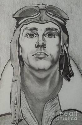 The Aviator Drawing - Yesterday's Aviator by Lise PICHE